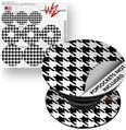 Decal Style Vinyl Skin Wrap 3 Pack for PopSockets Houndstooth Black and White (POPSOCKET NOT INCLUDED)