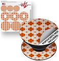 Decal Style Vinyl Skin Wrap 3 Pack for PopSockets Boxed Burnt Orange (POPSOCKET NOT INCLUDED)