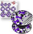 Decal Style Vinyl Skin Wrap 3 Pack for PopSockets Sexy Girl Silhouette Camo Purple (POPSOCKET NOT INCLUDED)