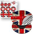 Decal Style Vinyl Skin Wrap 3 Pack for PopSockets Painted Faded and Cracked Union Jack British Flag (POPSOCKET NOT INCLUDED)