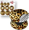 Decal Style Vinyl Skin Wrap 3 Pack for PopSockets Fractal Fur Leopard (POPSOCKET NOT INCLUDED)