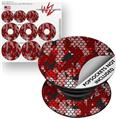Decal Style Vinyl Skin Wrap 3 Pack for PopSockets HEX Mesh Camo 01 Red Bright (POPSOCKET NOT INCLUDED)