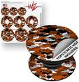 Decal Style Vinyl Skin Wrap 3 Pack for PopSockets WraptorCamo Digital Camo Burnt Orange (POPSOCKET NOT INCLUDED)