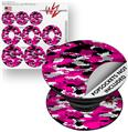 Decal Style Vinyl Skin Wrap 3 Pack for PopSockets WraptorCamo Digital Camo Hot Pink (POPSOCKET NOT INCLUDED)
