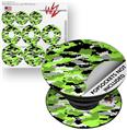Decal Style Vinyl Skin Wrap 3 Pack for PopSockets WraptorCamo Digital Camo Neon Green (POPSOCKET NOT INCLUDED)