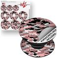 Decal Style Vinyl Skin Wrap 3 Pack for PopSockets WraptorCamo Digital Camo Pink (POPSOCKET NOT INCLUDED)