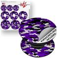 Decal Style Vinyl Skin Wrap 3 Pack for PopSockets WraptorCamo Digital Camo Purple (POPSOCKET NOT INCLUDED)