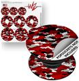 Decal Style Vinyl Skin Wrap 3 Pack for PopSockets WraptorCamo Digital Camo Red (POPSOCKET NOT INCLUDED)