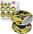 Decal Style Vinyl Skin Wrap 3 Pack for PopSockets WraptorCamo Digital Camo Yellow (POPSOCKET NOT INCLUDED)