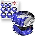 Decal Style Vinyl Skin Wrap 3 Pack for PopSockets Halftone Splatter White Blue (POPSOCKET NOT INCLUDED)