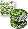 Decal Style Vinyl Skin Wrap 3 Pack for PopSockets WraptorCamo Old School Camouflage Camo Lime Green (POPSOCKET NOT INCLUDED)