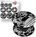 Decal Style Vinyl Skin Wrap 3 Pack for PopSockets Electrify White (POPSOCKET NOT INCLUDED)