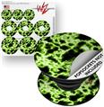 Decal Style Vinyl Skin Wrap 3 Pack for PopSockets Electrify Green (POPSOCKET NOT INCLUDED)