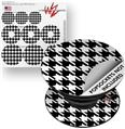 Decal Style Vinyl Skin Wrap 3 Pack for PopSockets Houndstooth White (POPSOCKET NOT INCLUDED)