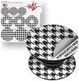 Decal Style Vinyl Skin Wrap 3 Pack for PopSockets Houndstooth Dark Gray (POPSOCKET NOT INCLUDED)