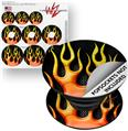 Decal Style Vinyl Skin Wrap 3 Pack for PopSockets Metal Flames (POPSOCKET NOT INCLUDED)