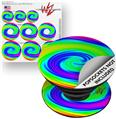 Decal Style Vinyl Skin Wrap 3 Pack for PopSockets Rainbow Swirl (POPSOCKET NOT INCLUDED)