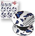 Decal Style Vinyl Skin Wrap 3 Pack for PopSockets Butterflies Blue (POPSOCKET NOT INCLUDED)