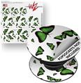 Decal Style Vinyl Skin Wrap 3 Pack for PopSockets Butterflies Green (POPSOCKET NOT INCLUDED)