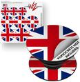 Decal Style Vinyl Skin Wrap 3 Pack for PopSockets Union Jack 02 (POPSOCKET NOT INCLUDED) by WraptorSkinz