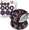 Decal Style Vinyl Skin Wrap 3 Pack for PopSockets Crazy Dots 01 (POPSOCKET NOT INCLUDED)