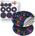 Decal Style Vinyl Skin Wrap 3 Pack for PopSockets Crazy Dots 02 (POPSOCKET NOT INCLUDED)