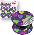 Decal Style Vinyl Skin Wrap 3 Pack for PopSockets Crazy Hearts (POPSOCKET NOT INCLUDED)