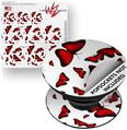 Decal Style Vinyl Skin Wrap 3 Pack for PopSockets Butterflies Red (POPSOCKET NOT INCLUDED)