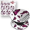 Decal Style Vinyl Skin Wrap 3 Pack for PopSockets Butterflies Purple (POPSOCKET NOT INCLUDED)