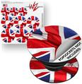 Decal Style Vinyl Skin Wrap 3 Pack for PopSockets Union Jack 01 (POPSOCKET NOT INCLUDED)