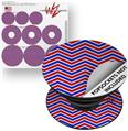 Decal Style Vinyl Skin Wrap 3 Pack for PopSockets Zig Zag Red White and Blue (POPSOCKET NOT INCLUDED)