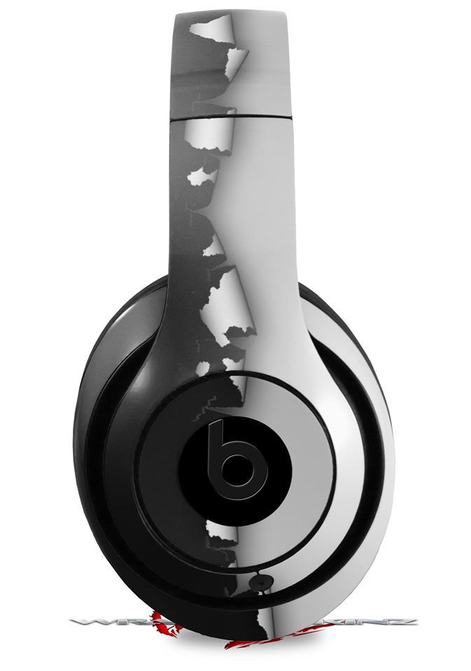 Beats Studio2 - Studio3 skins Ripped Colors Black Gray
