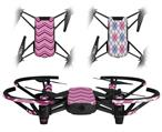 Skin Decal Wrap 2 Pack for DJI Ryze Tello Drone Zig Zag Pinks DRONE NOT INCLUDED