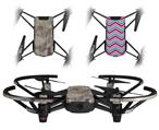 Skin Decal Wrap 2 Pack for DJI Ryze Tello Drone Pastel Abstract Gray and Purple DRONE NOT INCLUDED
