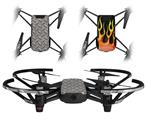Skin Decal Wrap 2 Pack for DJI Ryze Tello Drone Diamond Plate Metal 02 DRONE NOT INCLUDED