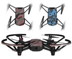 Skin Decal Wrap 2 Pack for DJI Ryze Tello Drone Camouflage Pink DRONE NOT INCLUDED