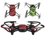 Skin Decal Wrap 2 Pack for DJI Ryze Tello Drone Camouflage Red DRONE NOT INCLUDED
