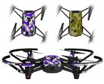 Skin Decal Wrap 2 Pack for DJI Ryze Tello Drone Sexy Girl Silhouette Camo Purple DRONE NOT INCLUDED