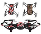 Skin Decal Wrap 2 Pack for DJI Ryze Tello Drone Sexy Girl Silhouette Camo Red DRONE NOT INCLUDED