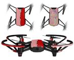 Skin Decal Wrap 2 Pack for DJI Ryze Tello Drone Ripped Colors Pink Red DRONE NOT INCLUDED