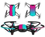 Skin Decal Wrap 2 Pack for DJI Ryze Tello Drone Ripped Colors Hot Pink Neon Teal DRONE NOT INCLUDED
