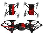Skin Decal Wrap 2 Pack for DJI Ryze Tello Drone Ripped Colors Black Red DRONE NOT INCLUDED