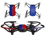 Skin Decal Wrap 2 Pack for DJI Ryze Tello Drone Ripped Colors Blue Red DRONE NOT INCLUDED
