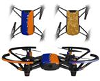 Skin Decal Wrap 2 Pack for DJI Ryze Tello Drone Ripped Colors Blue Orange DRONE NOT INCLUDED
