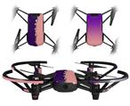 Skin Decal Wrap 2 Pack for DJI Ryze Tello Drone Ripped Colors Purple Pink DRONE NOT INCLUDED