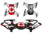 Skin Decal Wrap 2 Pack for DJI Ryze Tello Drone Canadian Canada Flag DRONE NOT INCLUDED