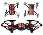 Skin Decal Wrap 2 Pack for DJI Ryze Tello Drone Painted Faded and Cracked Union Jack British Flag DRONE NOT INCLUDED