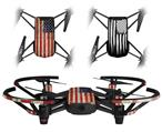 Skin Decal Wrap 2 Pack for DJI Ryze Tello Drone Painted Faded and Cracked USA American Flag DRONE NOT INCLUDED