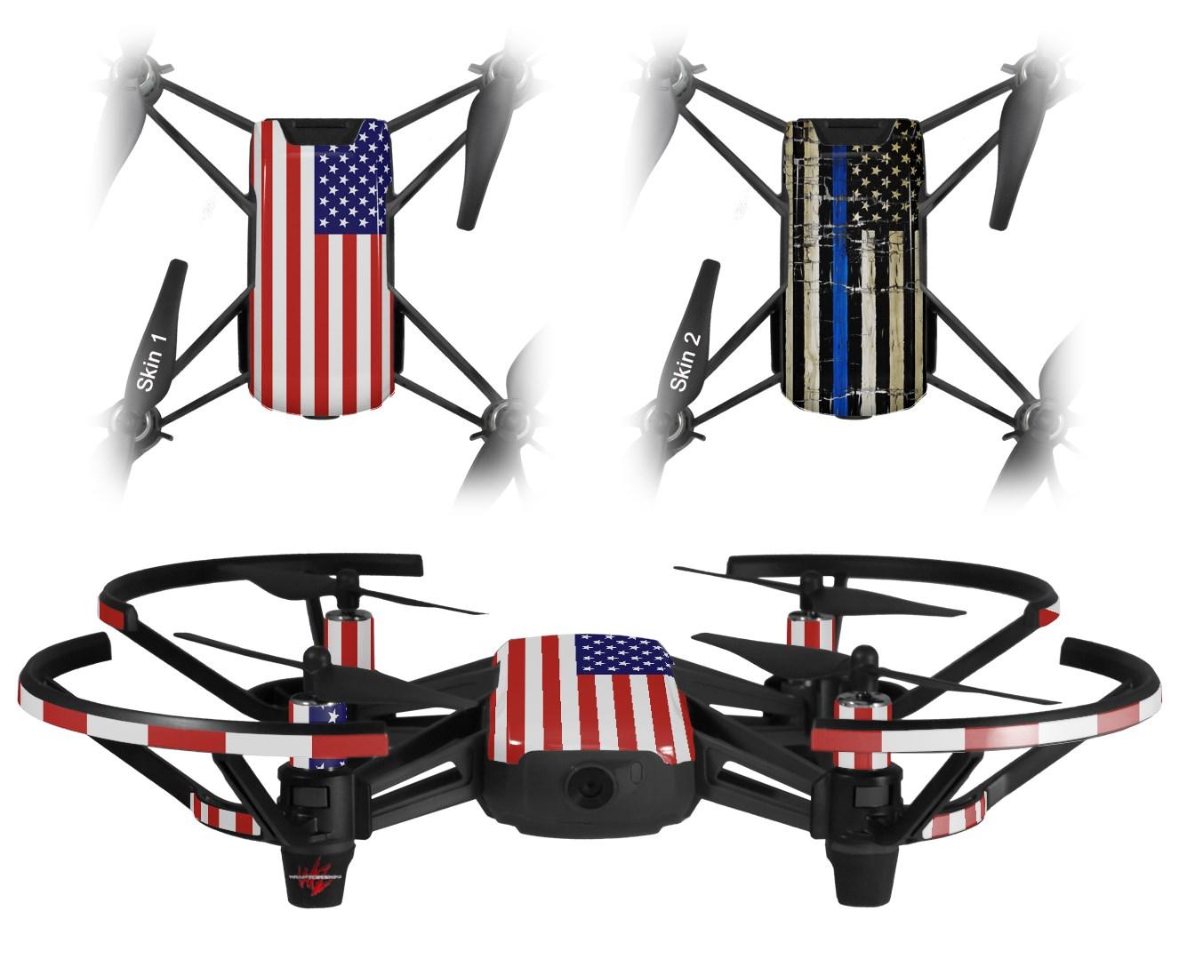 DJI Ryze Tello Drone Skins USA American Flag 01