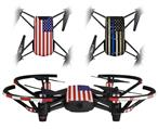 Skin Decal Wrap 2 Pack for DJI Ryze Tello Drone USA American Flag 01 DRONE NOT INCLUDED